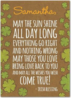 Shamrock Blessing - St Patricks Day Cards in Wood | Magnolia Press