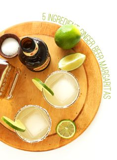 Seriously amazing 5 ingredient ginger beer margaritas | perfect for parties, taco night, and everything in between