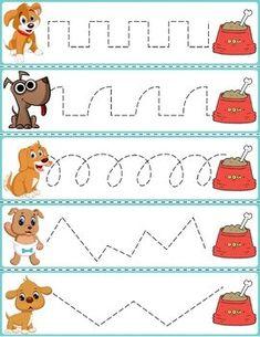 Trace The Pattern: Dogs & Food Bowls – Best Anımals Food Preschool Learning Activities, Preschool Classroom, Preschool Art, Educational Activities, Preschool Activities, Kindergarten, Creative Curriculum, Pre Writing, Kids Education