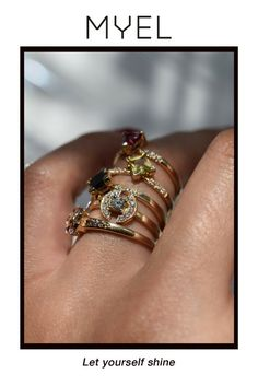 Let yourself shine with our Lune de MYEL rings. myeldesign.com