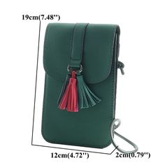 Tassel Stylish Phone Bag Shoulder Bag Crossbody Bag Purse is designer, see other cute bags on NewChic Mobile. Handmade Leather Wallet, Leather Pouch, Leather Purses, Leather Handbags, Pu Leather, Pochette Portable, Leather Bag Pattern, Leather Projects, Leather Accessories