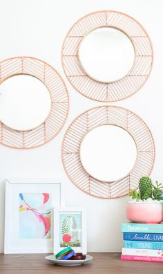 Easy copper and wood mirror DIY