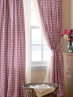 Red Gingham Checked Curtains From Country Curtains   A Classic That Never  Goes Out Of Style
