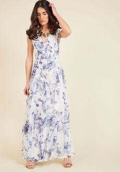 Exquisite Epilogue Maxi Dress in Etched Blossoms, @ModCloth
