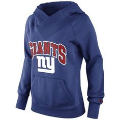 Women's New York Giants Nike Royal Blue All-Time Performance Hoodie