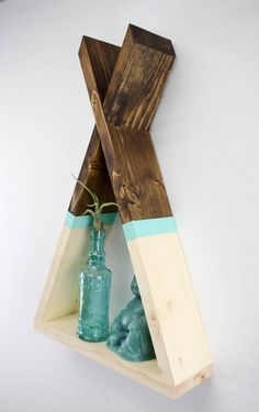 Teepee Shelf Tepee Shelf Wood Floating от RoamingRootsWoodwork