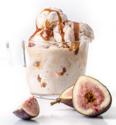 Fig Bourbon Caramel Gelato recipe from SouthernFATTY.com