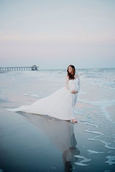 Beach Maternity Pictures   Tybee Island