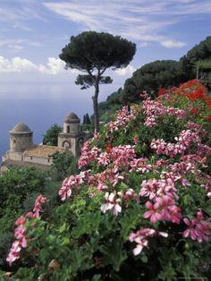 Villa Rufolo and Wagner Terrace Gardens Ravello, Amalfi Coast, Italy