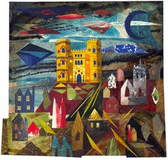 'Midford Castle, Somerset' by Ed Kluz (Mixed media and paper collage) Create Collage, Sense Of Place, Collage Artists, Historical Architecture, Printmaking, Illustrators, Summer Youth, Mixed Media, Illustration Art
