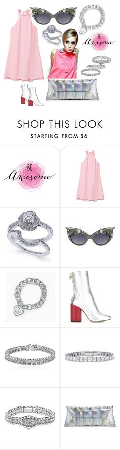 """""""MY ADVICE: BE AWESOME"""" by michelle858 ❤ liked on Polyvore featuring WALL, MANGO, A-Morir by Kerin Rose, Tiffany & Co., Petar Petrov, Apples & Figs, Lagos, VBH and sjlew"""