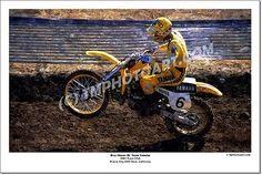Broc Glover #6 Yamaha Trans-USA 12 x 18 Art Photo Vintage Motocross MX