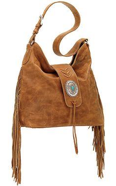 American West Seminole Collection Deerskin Soft Shoulder Hobo Bag   Cavender's