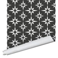 Starburst Wallpaper - Peel And Stick / Black / 2' x 12'