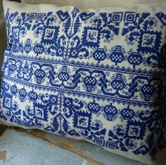 Hand Embroidered Cross Stitch Cushion Cover traditional pillows