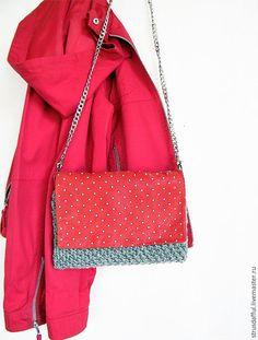 Купить Женская сумка на цепочке из шерсти и замши - замшевая сумочка, натуральная кожа, маленькая сумочка