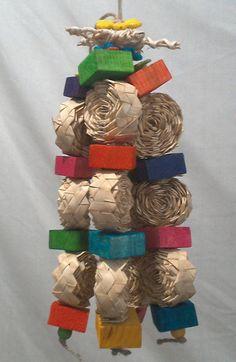 bamboo cinnamon swirl by MylosMagicalJungle on Etsy Rabbit Toys, Pet Rabbit, Bunny Toys, Diy Bird Toys, Diy Toys, Diy Chinchilla Toys, Parrot Toys, Cockatiel, Pet Birds