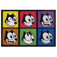 Felix The Cat Multi-color Nylon Area Area Rug (1'6 x 2'4) - Free Shipping On Orders Over $45 - Overstock.com - 16722382 - Mobile