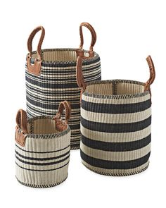 Explore the Serena & Lily storage collection today and discover beautiful designer storage bins and woven storage baskets to organize your home. Extra Storage, Storage Baskets, Storage Ideas, Studio Mcgee, Living Room Storage, Wall Storage, Basket Decoration, Hacks, Leather Handle