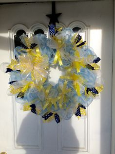 "Light blue & yellow 24"" $35"