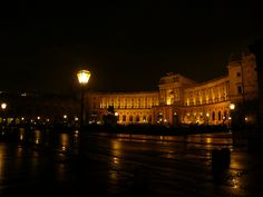 Hofburg at night, via Flickr.