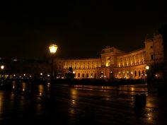 Hofburg at night, via Flickr.