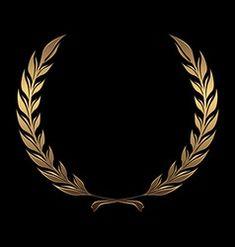 Flower Graphic Design, Circle Logo Design, Fond Design, Design Art, Gold And Black Background, Banner Background Images, Snapchat Stickers, Gold Picture Frames, Luxury Logo