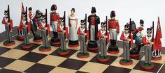 Waterloo | Napoleonic Chess Set Wellington's side