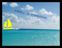 Dwell in possibilities ) tropical possibility Sign sea plaque beach inspiration #Handmade #Sign