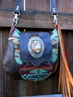 Pendleton  Wool Fabric and Leather Messenger  Bag by StarryGarden just arrived yesterday, this bag is absolutely stunning. Amazing attention to detail. Rhonda is a joy to work with. Gorgeous one of a kind wearable art