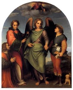 The Archangel Rapahel Conducting the Young Tobias by Andrea del Sarto