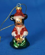 """Mickey Mouse 2-1/2"""" Blown Glass Ornament Disney Parks 2011"""