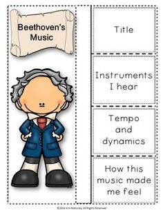 BEETHOVEN Foldables. Meet the composers and his music!  ♫ CLICK through to preview or save for later!  ♫