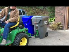 Heavy Hitch Dual Hitch'N Can - YouTube Riding Lawn Mower Attachments, Compact Tractor Attachments, Garden Tractor Attachments, Tractor Accessories, Atv Accessories, John Deere 318, Tool Room, Tractor Implements, Compact Tractors