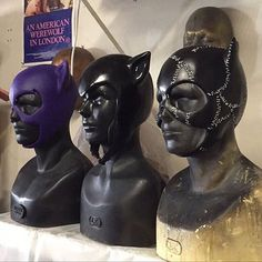 Getting these ladies ready to ship  #Catwoman #selinakyle #catwoman75 #batman #cowl #mask #costume #cosplay #workshop #sculpt #art #rubber #catsuit #catwomancosplay #gothamcity #darkknight #display #dccomics #dcuniverse #michellepfeiffer #timburton #batmanreturns #classic #modern #original #smoothon #reevzfx : @reevzfx