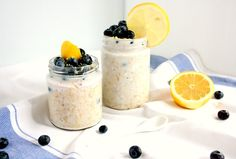 Dessert for breakfast? Yes please! Blueberry lemon cheesecake overnight oats will start your day on a healthy and sweet note. Great for mornings on the go!