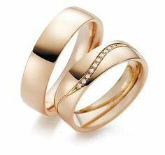 Wedding ring in 18k rose gold