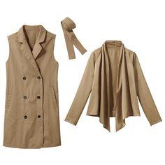 着こなし自在の一着三役「3WAYコート」(コート+シャツ) 通販 【ニッセン】 ジャケット・コート コート ハーフコート
