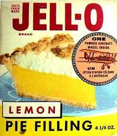 Jell-O Lemon pie filling  c. 1964