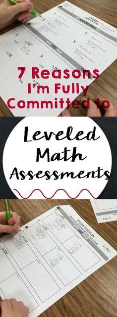 Reflections and Resources from Tarheelstate Teacher: Why I'm Switching to leveled/differentiated math assessments