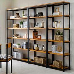 Vintage Wrought Iron separators do the old wood bookcase Ikea shelving creative custom display shelves
