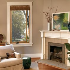 Shedding Light on Replacement Windows. I like the look of the stained wood casements with the white/cream trim