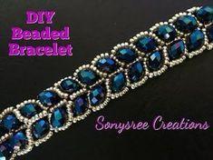 Beaded Leafy Bracelet DIY Easy Tutorial - YouTube