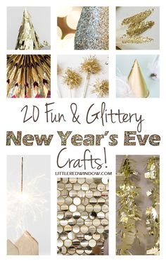 20 Fun & Glittery New Year's Eve Crafts you can make whether you go out or stay in!