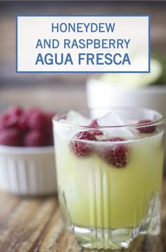 This Honeydew and Raspberry Agua Fresca is a refreshing summer drink that's packed full of sweet, fruity flavors. Honeydew, lime juice, and ripe raspberries are added to a pitcher of ice water along with a dash of sugar to create a homemade fruit juice that you can feel good about. Find the full recipe by clicking here.
