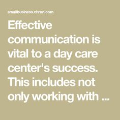 Ways to Communicate at a Day Care Center