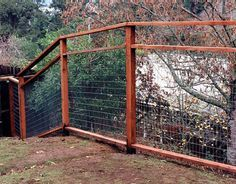 Galvanized Hog panel and cedar fence. | Fences | Pinterest | Wire ...