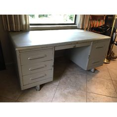 Image of Mid-Century Tanker Desk