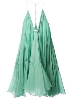 NEW-Chloe-Spearmint-Gauze-Trapeze-Dress