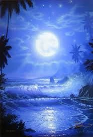 Blue moon - Every 33 months the full moon shows up twice in one month. This year it is August 2012 and is called Blue moon Nature Pictures, Cool Pictures, Beautiful Pictures, Beautiful Paintings, Beautiful Landscapes, 3 Piece Canvas Art, Canvas Canvas, Good Night Moon, Beautiful Moon